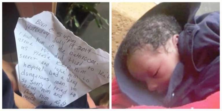 Resultado de imagem para Mãe abandona menino de 1 dia com bilhete: 'pai dele tentou nos matar'
