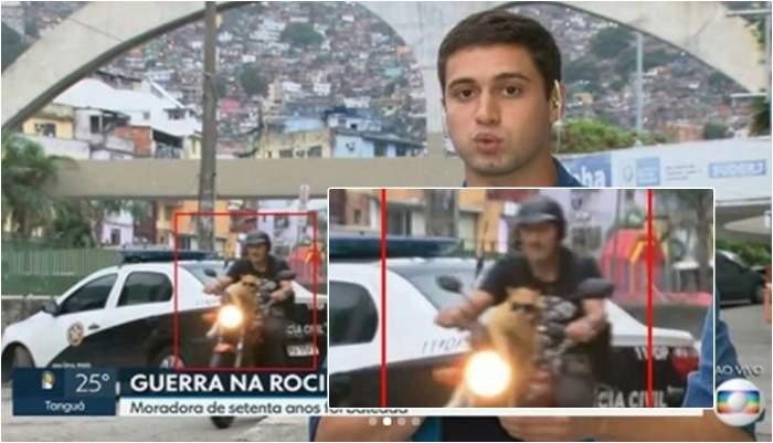 290d6649f7a9e Gato de óculos escuros  invade  reportagem de Telejornal no Rio de Janeiro
