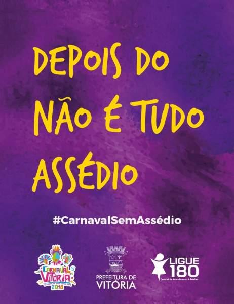 Vitória Lança Campanha Contra Assédio No Carnaval