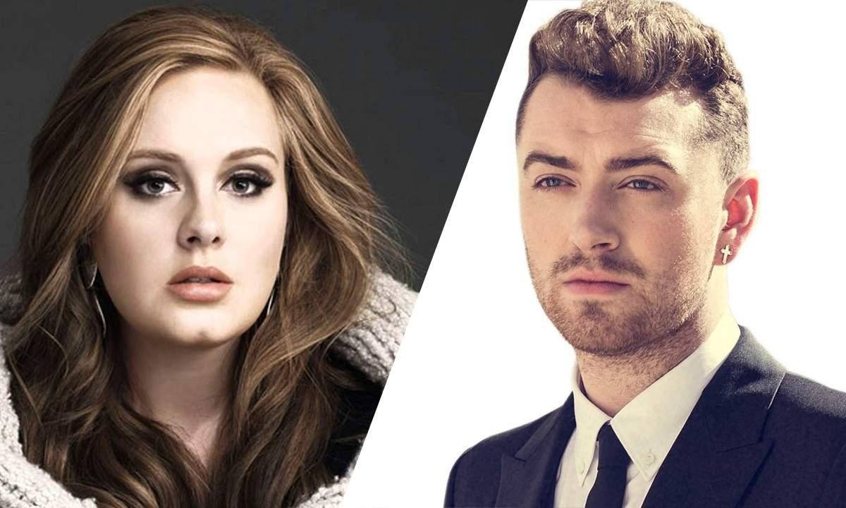 Adele. Foto do site da Folha Vitória que mostra Fãs sugerem que Adele e Sam Smith seriam a mesma pessoa