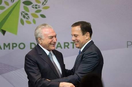 Doria diz que conversou com Temer sobre quadro eleitoral de SP e do Brasil