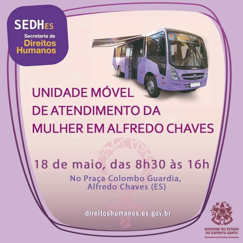 Unidade Móvel da Mulher estaciona em Alfredo Chaves no Dia Nacional de Combate a Exploração Sexual Infantil