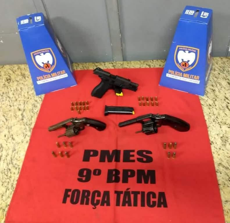 Quatro armas de fogo são apreendidas em Cachoeiro de Itapemirim - Jornal Folha Vitória